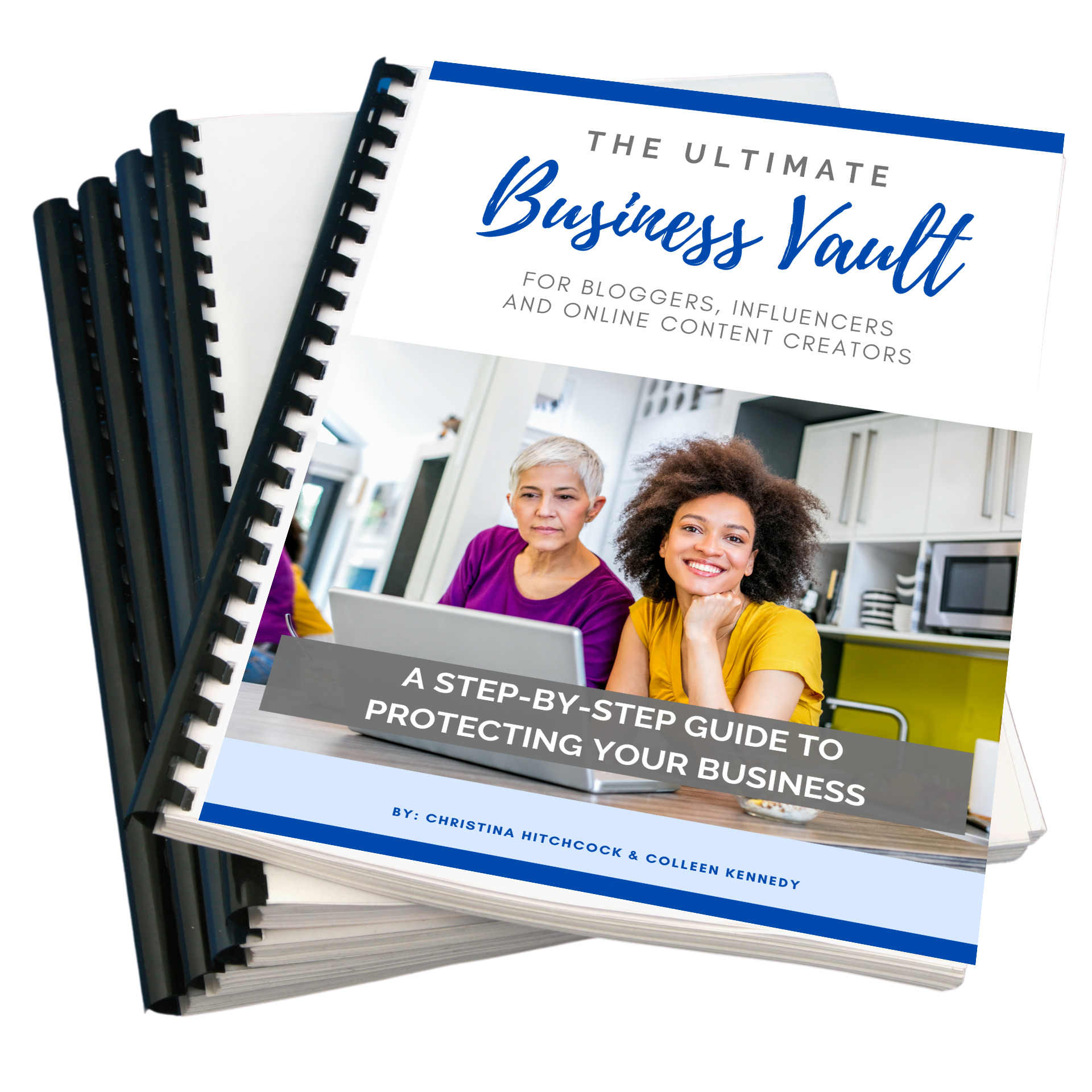 Stack of Ultimate Business Vault workbooks